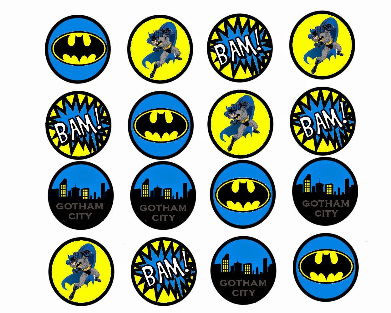 Batman Free Printable Mini Kit Oh My Fiesta In English