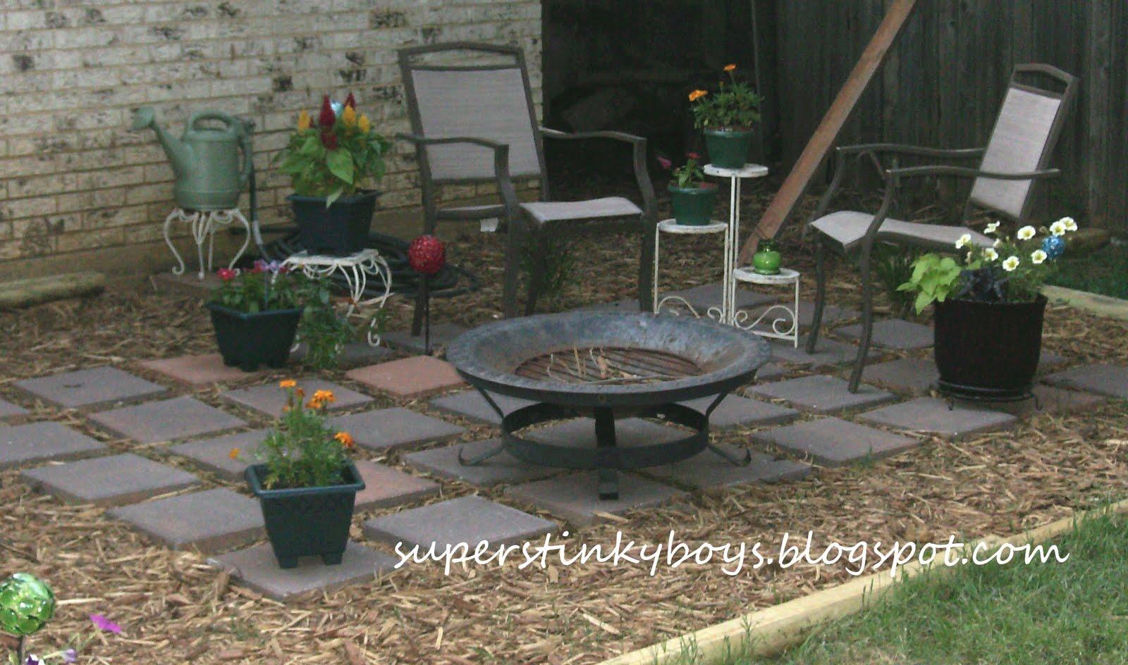 Cheap Patio Pavers Laura Williams - Mulch patio ideas