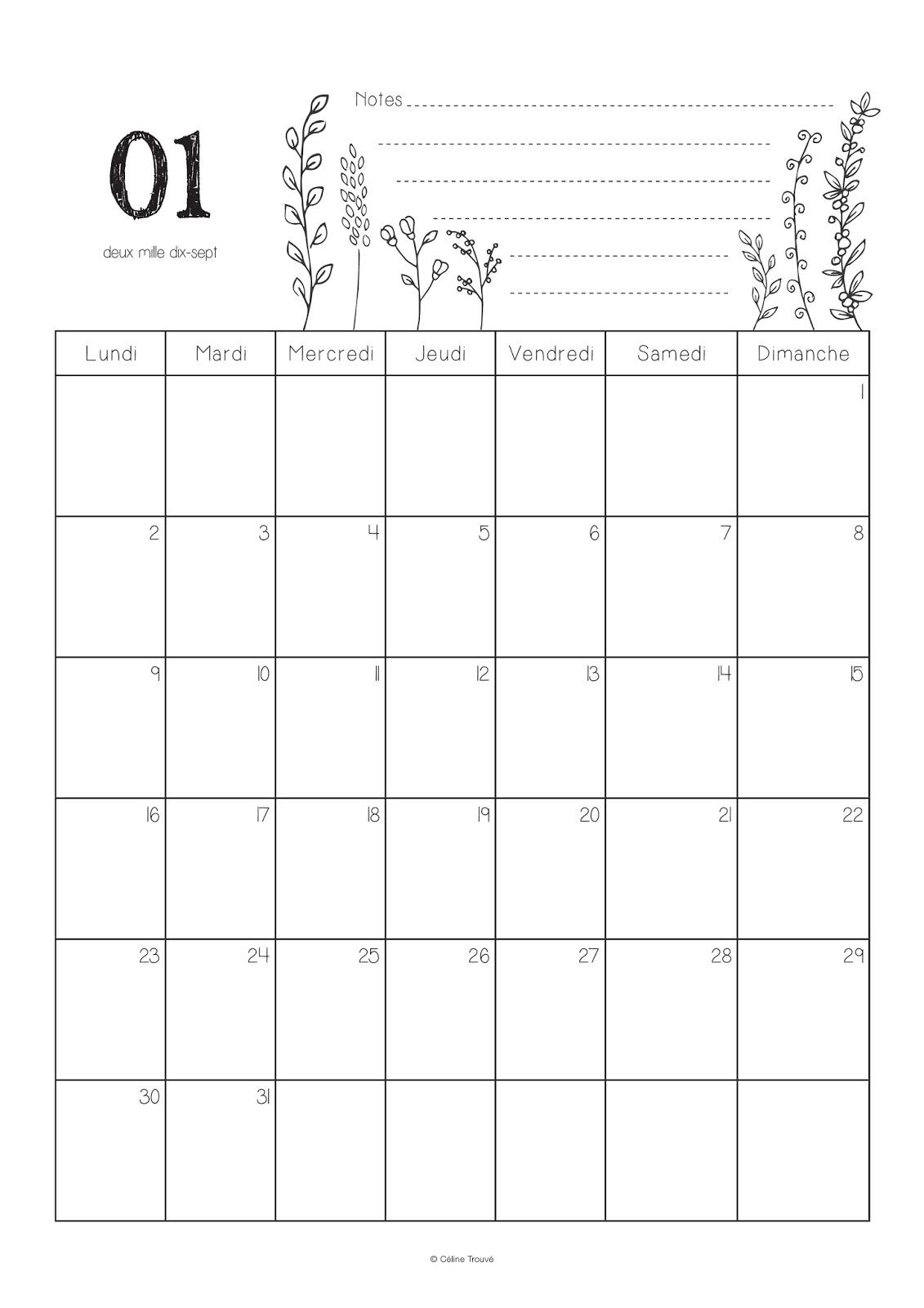 C line graphiste maquettiste calendrier 2017 et - Calendrier du potager mois par mois ...