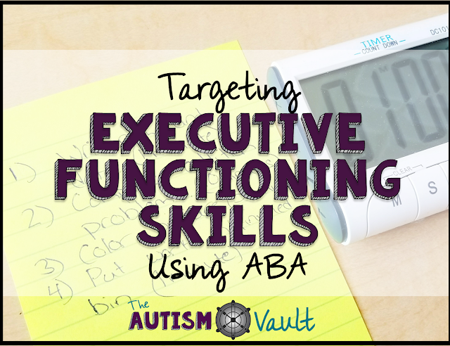 Executive functioning skills are foundational and vital for our students with autism. These are the skills that are going to allow them to work, travel, and live indpendently. Using applied behavior analysis (or ABA) can make the process of teaching executive functioning skills more managable.