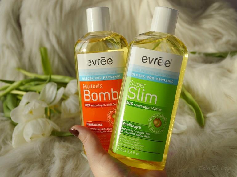 Nawilżająca pielęgnacja do mycia ciała - Multioils Bomb i Super Slim Olejki pod prysznic Evree