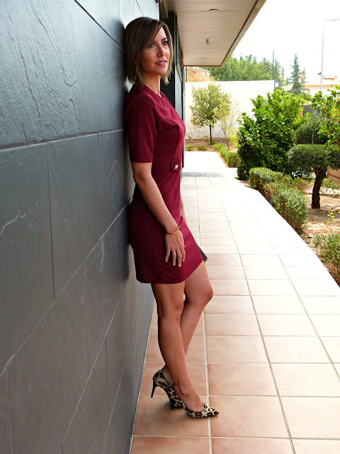Fitness And Chicness-Burgundy Fall Dress-5
