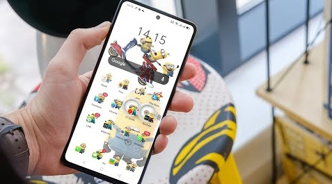 Download Tema Minions Realme UI  Tema Oppo Color Os 7 Tembus Sampai Akar