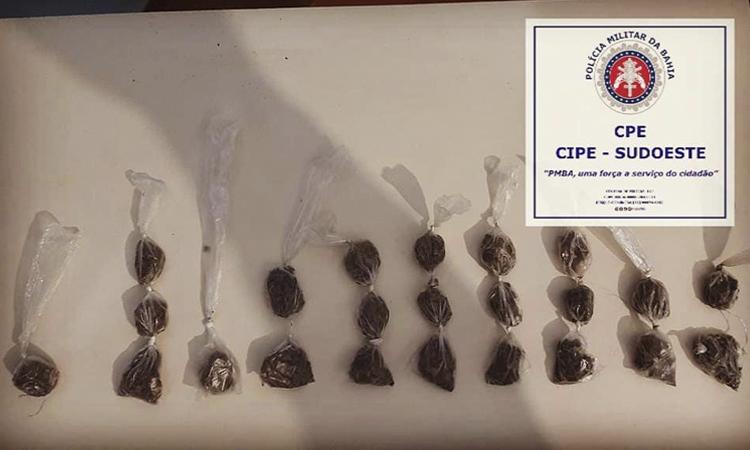 Menor de idade é detida por tráfico de drogas em Jussiape