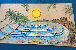 How to draw surf art and paint by Paul Carter