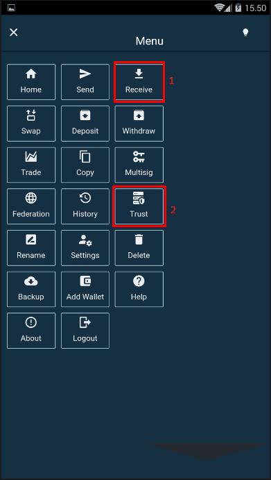 menu melalui tombol yang berada di pojok kiri atas
