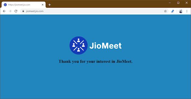 JioMeet Website