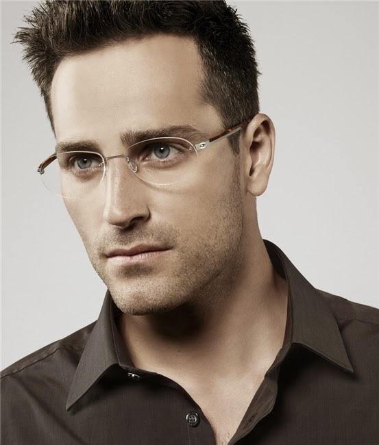 Kacamata+rimless+wajah+oval