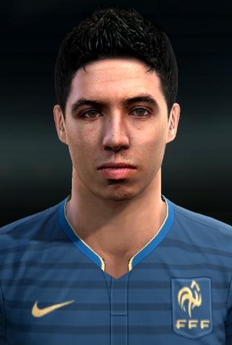 Samir Nasri Face For PES 2013
