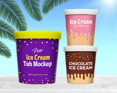 Mockup Kemasan Ice Cream