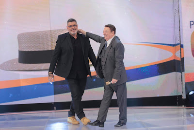 Alexandre Frota e Raul Gil  (Foto: Rodrigo Belentani/SBT)