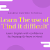 Hindi Sentence In English Translation | Learn 'Find it difficult'