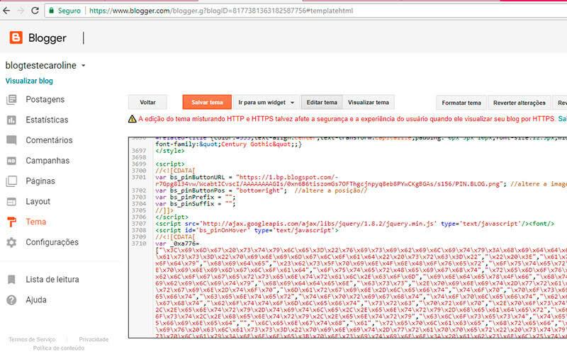 Como adicionar botão do pinterest personalizado no blog