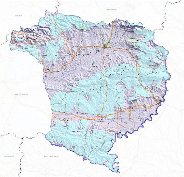 Peta infrastruktur Kabupaten Blora