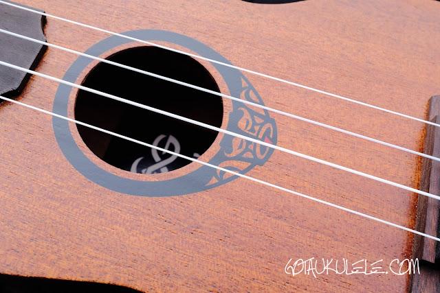 Lag TKU10S Soprano Ukulele sound hole