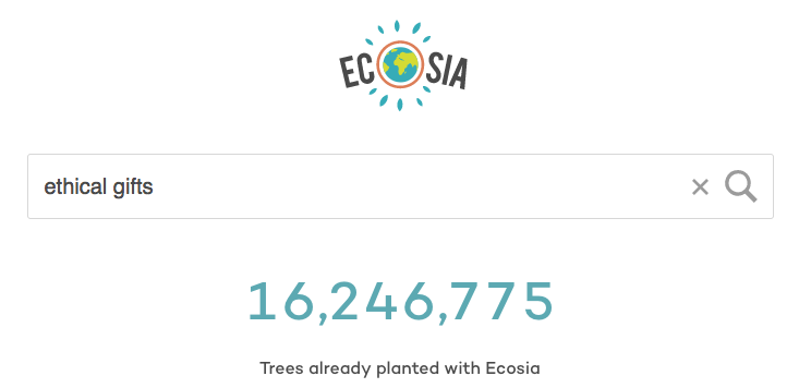 Ecosia Social good search engine - plant trees with every search