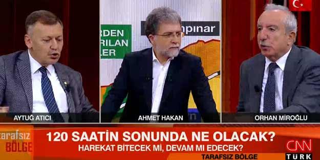 Ak Parti'li Orhan Miroğlu ile Chp'li Aytuğ Atıcı Cnn Türk'te canlı yayında kavga..