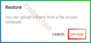 Restore Themes In Blogger Step 4