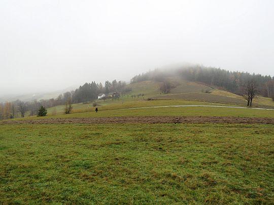 Roztoka i przełęcz przed Łyżką.