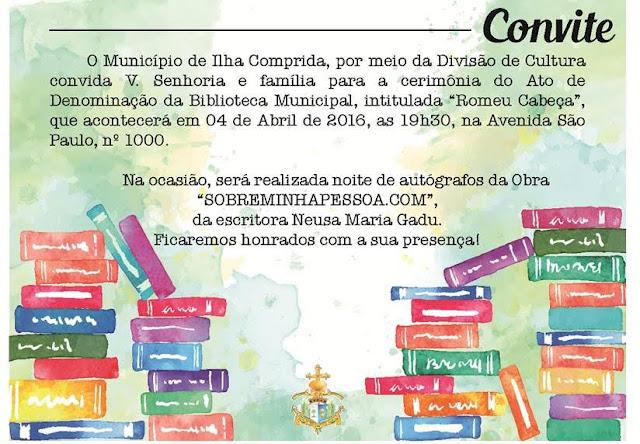 NEUSA MARIA, MÃE DA CANTORA MARIA GADÚ, AUTOGRAFA O LIVRO SOBREMINHAPESSOA.COM NA SEGUNDA 404 NA BIBLIOTECA DA ILHA