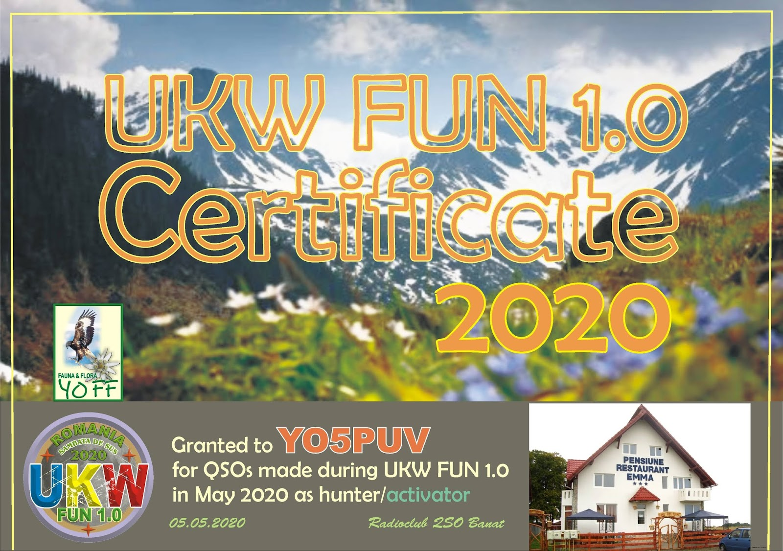 YOFF - FAUNA AND FLORA Romanian Program: O noua diploma ......