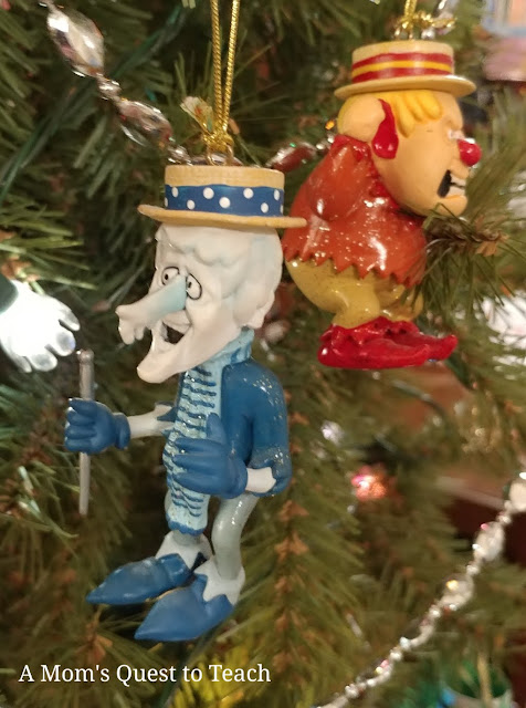 photo of Heat Miser and Cold Miser ornaments