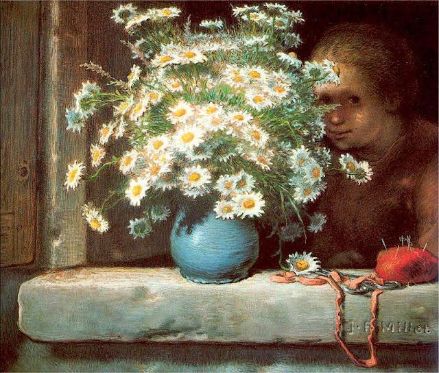 Жан Франсуа Милле - Букет маргариток. 1866