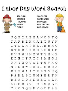Gratifying image in labor day word search printable