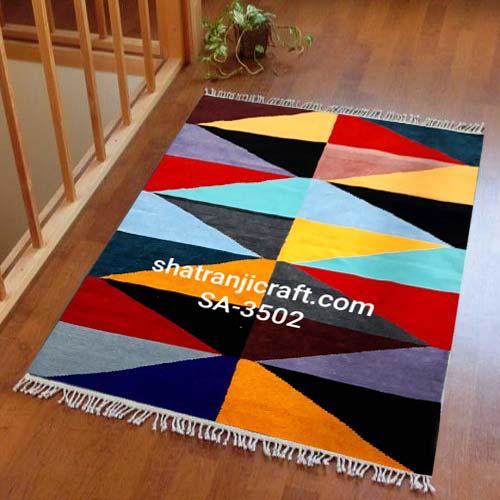 Handloom Satranji floor mat/rugs SA-3502