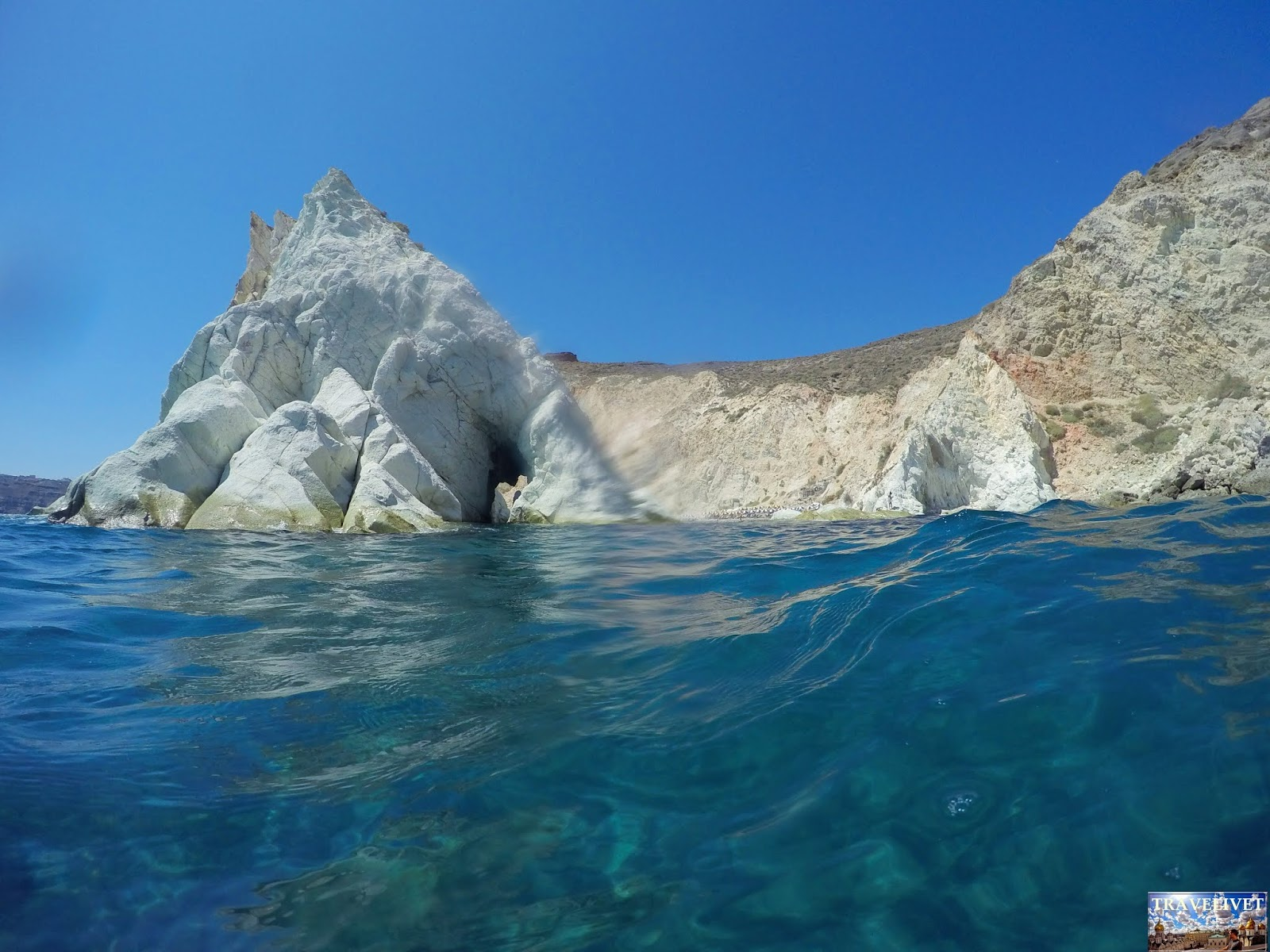 Grèce Santorini Santorin Plage blanche