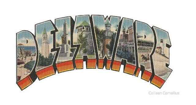 Delaware Vintage Big Letter