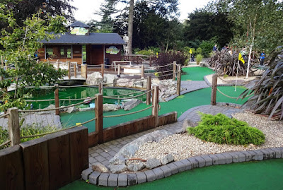 Golden Putter Adventure Golf at Cannon Hill Park in Birmingham
