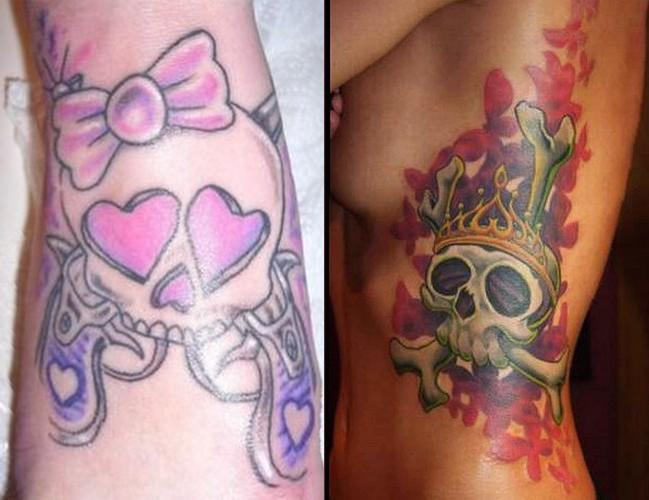 tattoos and body accessories: Skull girl tattoss