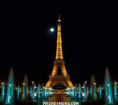 paris eiffel tower night view wallpaper