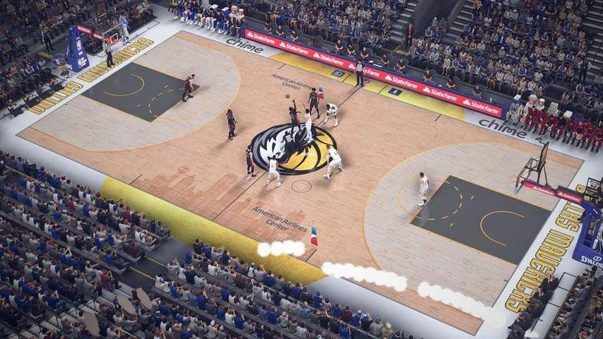 NBA 2K21 Dallas Mavericks '20-'21 City Court Concept By DEN2K [FOR 2K21]