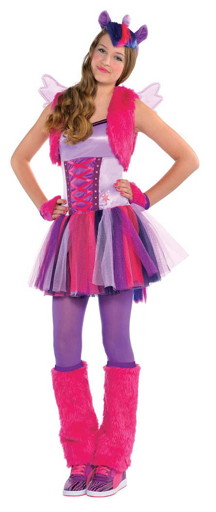 Twilight Sparkle Teen Halloween Cosplay Costume  sc 1 st  MLP Merch & More Adult Costumes: Fluttershy Pinkie Pie Rainbow Dash and ...