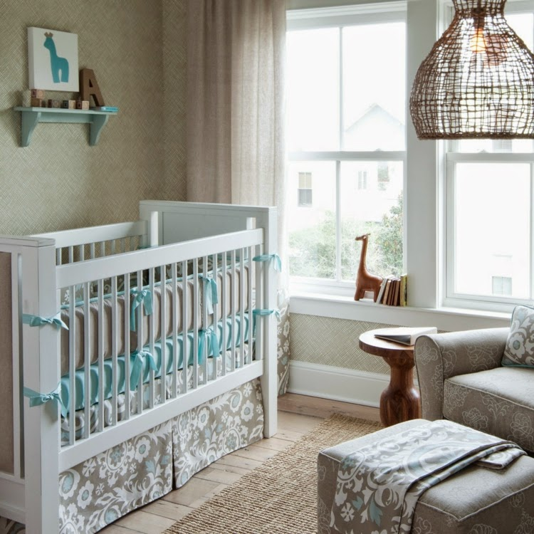 cuarto bebé gris celeste
