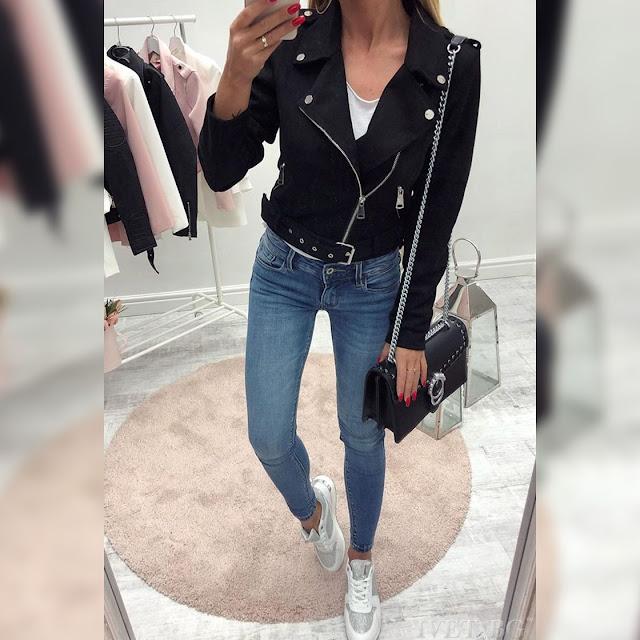 Γυναικείο μαύρο μπουφάν RADMILA BLACK