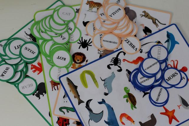 Loteryjka obrazkowa - zwierzęta (do pobrania)