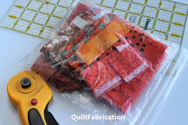 small bag of orange scraps left