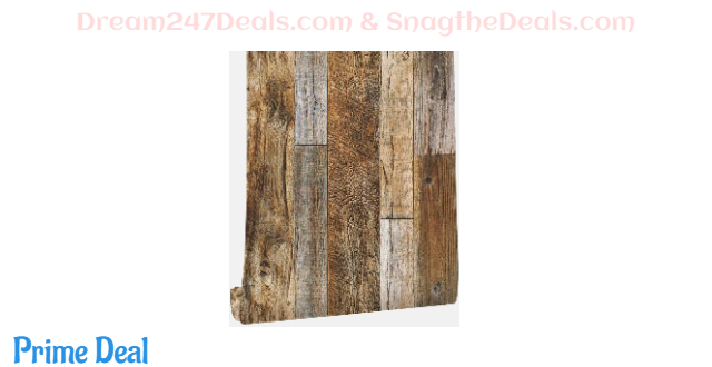 40%OFF Faux Wood Wallpaper, Peel and Stick Self-Adhesive Vinyl Decorative Wallpaper