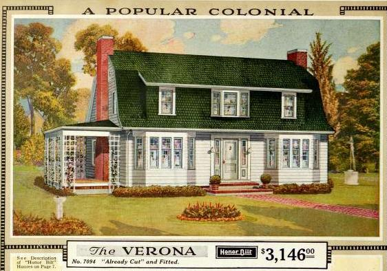 Sears Verona from the 1921 Modern Homes catalog @ Sears Homes of Chicagoland