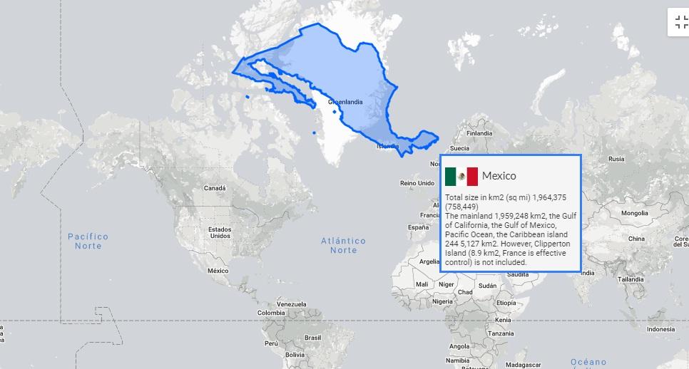 Mapa Interactivo El Tamano Real De Los Paises