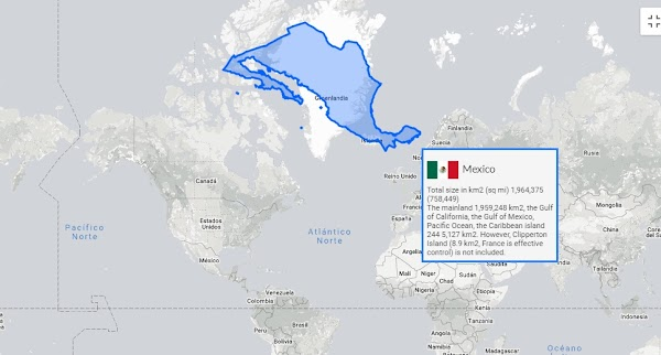 Mapa interactivo : el tamaño real de los países