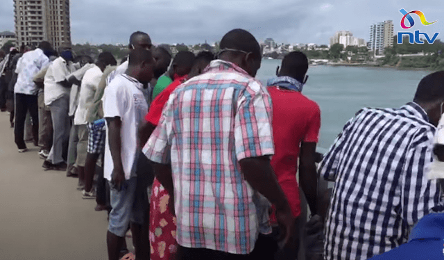 Man who jumped off the Nyali bridge in Mombasa
