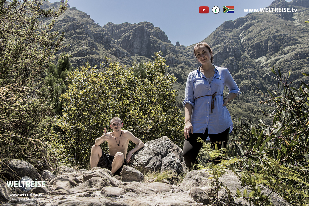 Tafelberg Gerbirge in Kapstadt, Südafrika, Weltreise, WELTREISE.TV Arkadij und Katja