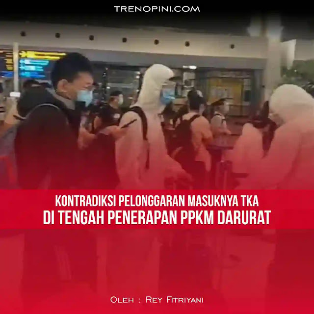 Derasnya TKA yang masuk Indonesia tidak terlepas dari perjanjian regional Indonesia dengan negara lain. Mudahnya perizinan bagi TKA bekerja di dalam negeri adalah wujud penerapan ekonomi liberal kapitalistik yang diterapkan negeri ini. Ditambah dukungan UU Cipta Kerja.