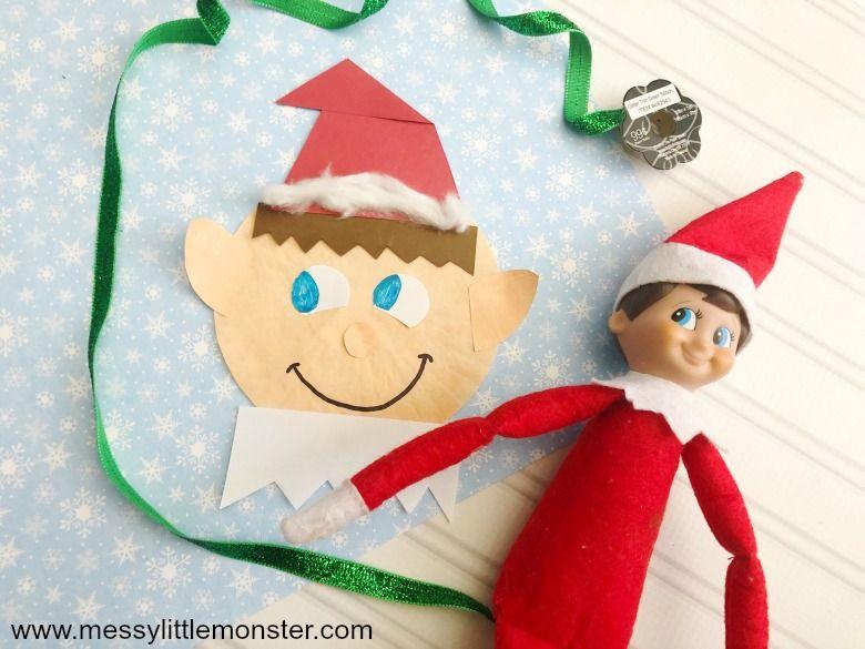 Elf on the shelf Christmas craft for preschoolers