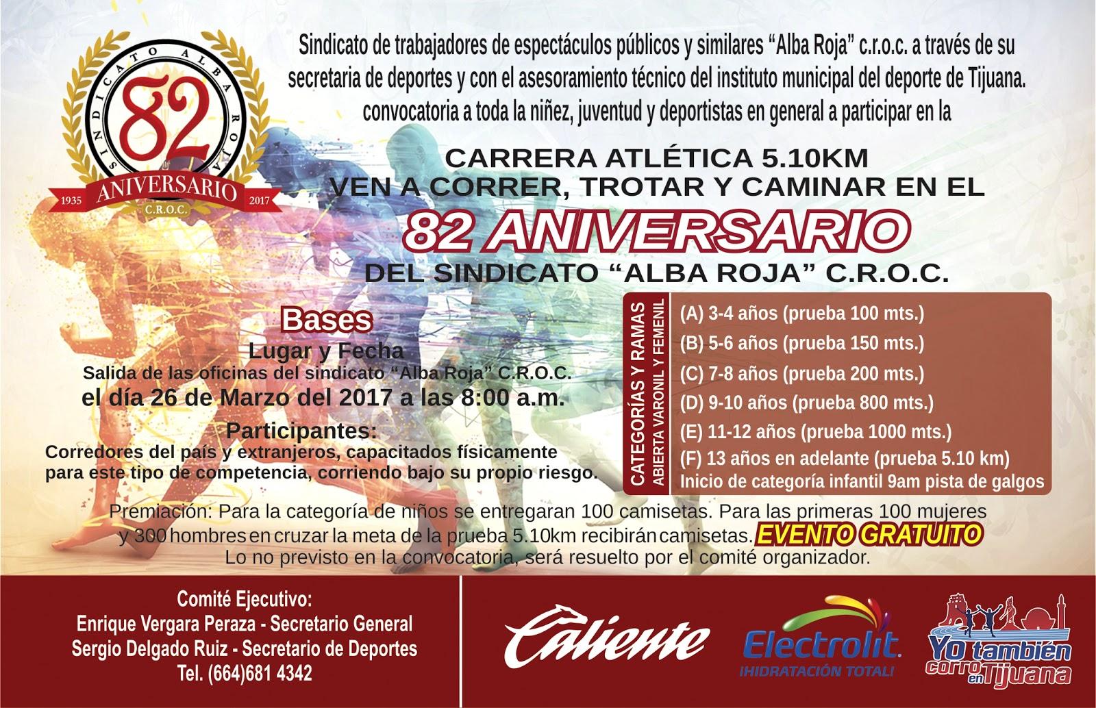 Convocatoria - Carrera Atlética Sindicato Alba Roja 5.10K ...